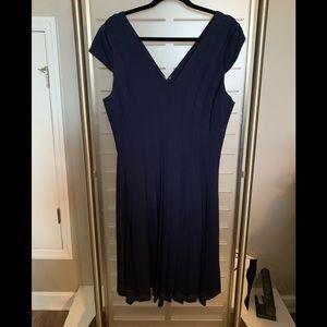 Whitehouse Blackmarket Navy Dress